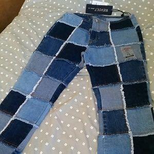 Denim - Boho, hippy Patchwork  jeans NWT